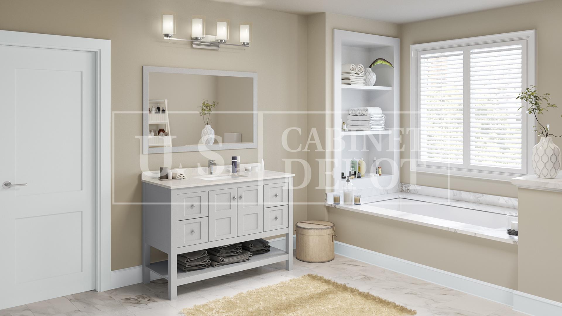 Princeton Dove Furniture Vanity 48 Us Cabinet Depot
